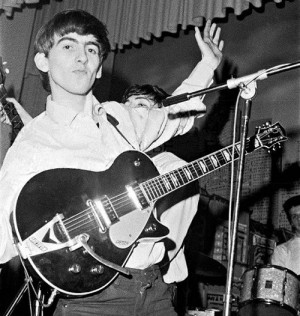 An 18 Year Old Harrison Bought Himself His First Real Decent Guitar In 1961 A Secondhand 57 Gretsch Duo Jet Even Though The Was Georges Primary