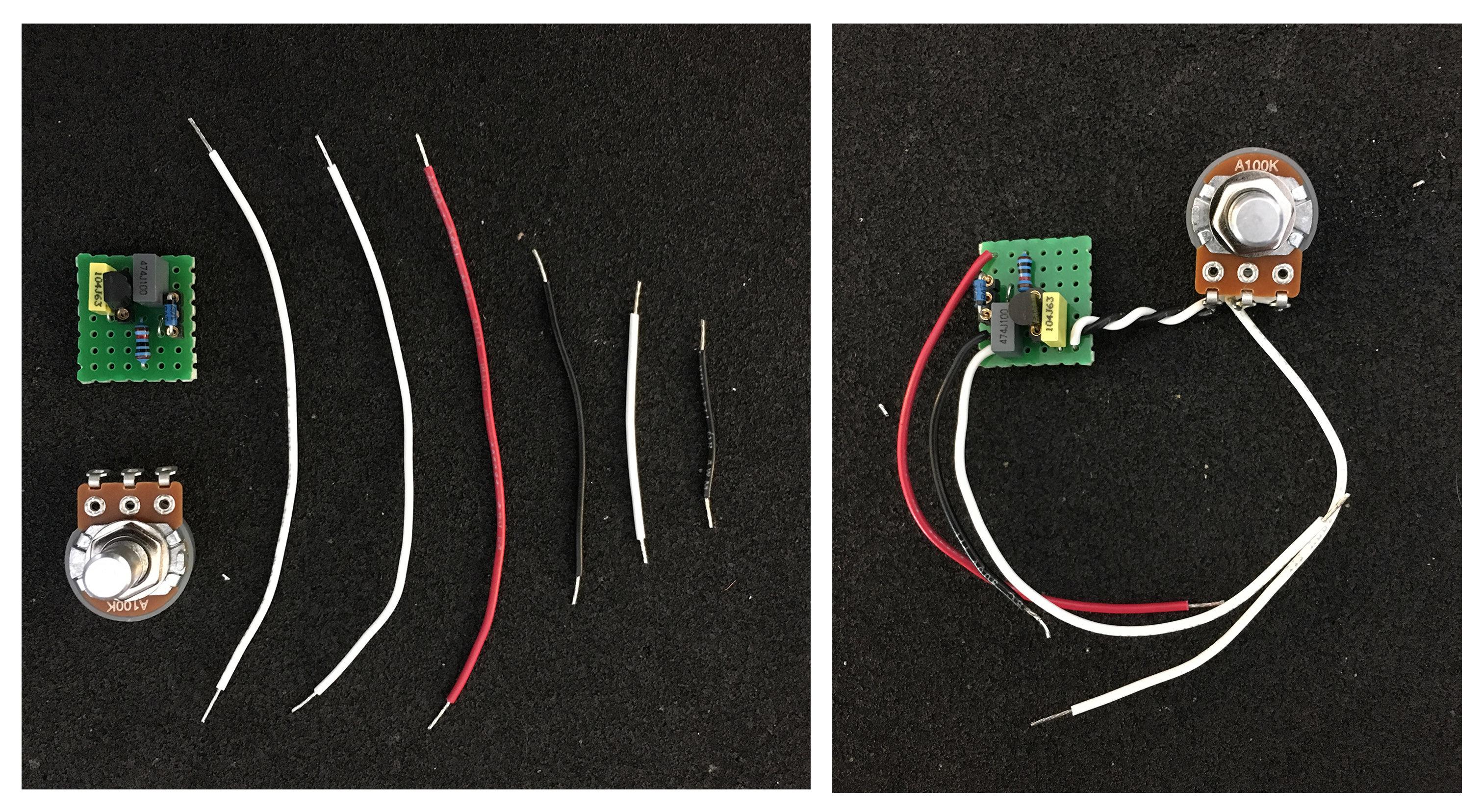 Your First Diy Pedal Project Were Building A Bazz Fuss Tone Report Led Wiring Diagram Double Check The Order Of Wires And Make Sure They Lead To Right Lugs On Pot Leave Other Soldered Nothing Including Wire From
