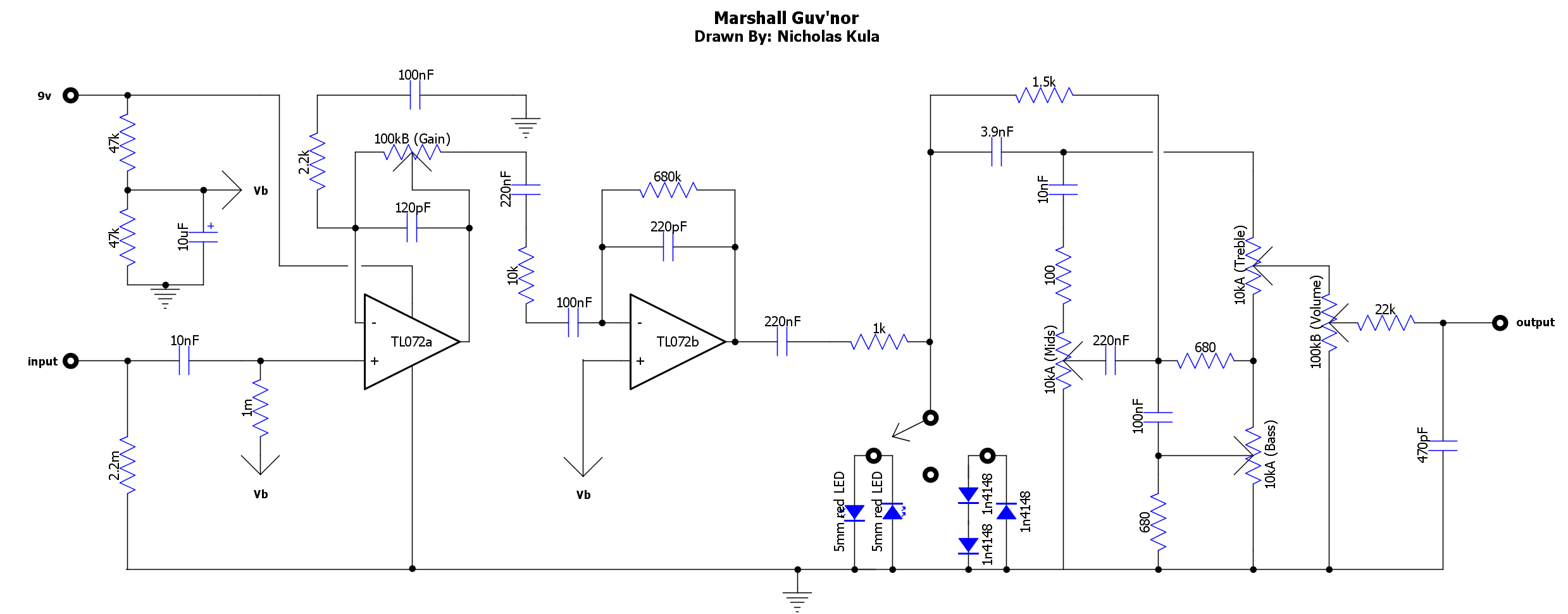Marshall Wiring Diagram All Kind Of Diagrams 1960a Guv Nor Circuit And Schematics 1922 4x12