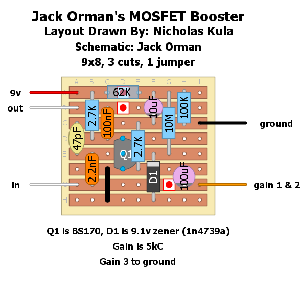 a boost you can t refuse build your own jack orman mosfet booster rh tonereport com Clean Boost Pedal Expression Pedal
